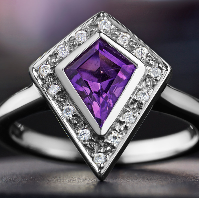 purple engagement rings harriet kelsall