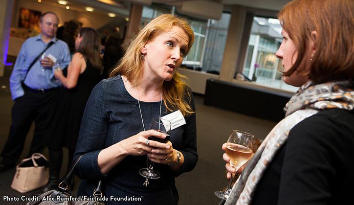 Harriet Kelsall at Fairtrade is 20 Event