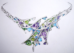 Aurora Necklace Sketch