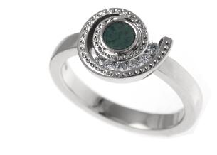 Ammonite Inspired Engagement Ring
