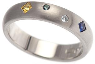 Multi-Coloured Gemstone Ring