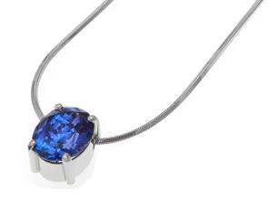 Blue Tanzanite Necklace