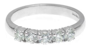 Rhodium Plated Diamond Engagement Ring