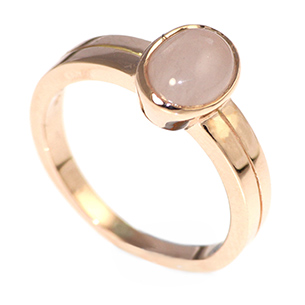 rose quartz jewelry ring wedding anniversary promise media engagement rings gold