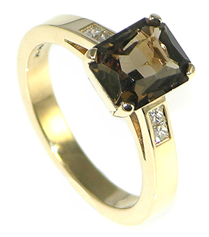 Smoky Quartz Engagement Ring Uk