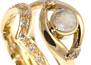 Opal Yellow Gold Engagement Ring