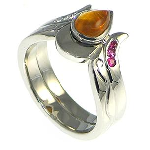 Amber Engagement Ring