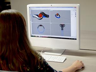 Designer Working On CAD Engagement Ring
