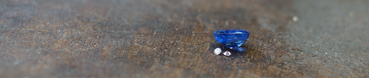 Loose Sapphire and Diamonds