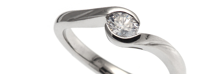 Diamond Twist Engagement Ring