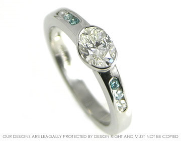 A coloured diamond engagement rings
