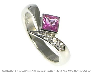 Platinum and pink sapphire