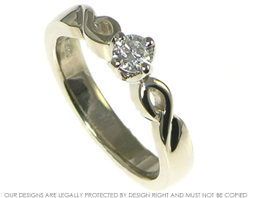 celtic inspired bespoke 9ct white gold engagement and