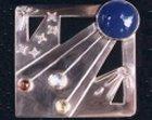 sterling silver 'fireworks' brooch
