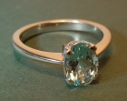 an 18ct white gold engagement ring with a 1.10ct fine quality aquamarine
