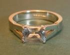 platinum engagement ring with a rare very pale blue scissor cut 1.63ct ceylon sapphire