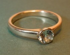 18ct white gold engagement ring with a 5mm 0.39ct aquamarine