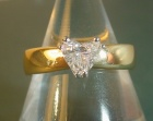 18ct yellow gold engagement ring with a 0.49ct hsi heart shaped diamond