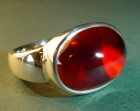 sterling silver andfine garnet ring