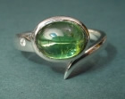9ct white gold engagement ring with 2.06ct green tourmaline