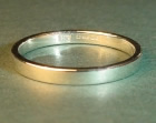 9ct white gold wedding ring 2mm wide with a flat profile