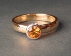 citrine and yellow gold dress ring
