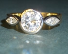 18ct gold ring with sue's own diamonds