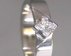18ct white gold art deco inspired 0.24cts princess cut solitaire