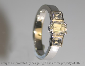 platinum engagement ring with h si diamonds totalling 0.94cts