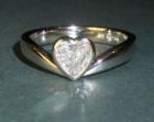 bespoke heart shaped diamond engagement ring