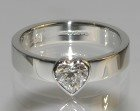 platinum solitaire engagement ring with 0.50cts heart shaped diamond