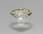 bespoke engagement ring in a modern reworking of an antique style