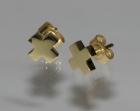 bespoke cross shaped gold stud earrings