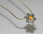 bespoke flower pendant