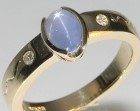 bespoke tudor influenced 9ct yellow gold engagement ring
