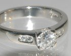 platinum engagement ring with 0.51cts diamond