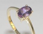 amethyst and 9ct yellow gold ring
