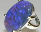 bespoke silver dress ring incorporating customers own oval 29.84ct opal
