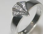 18ct white gold art deco commissioned engagement ring