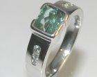 bespoke dramatic platinum, tourmaline and diamond dress ring