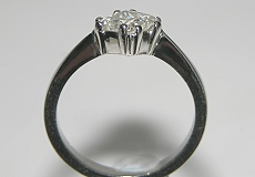 platinum diamond solitaire inspired by an antique victorian ring