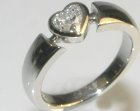 commissioned platinum and diamond engagement ring