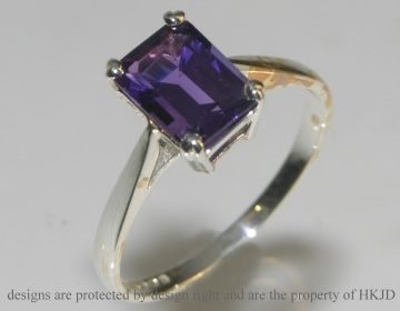 sterling silver and amethyst dress ring