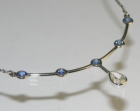 commissioned necklace using diamonds and sapphires