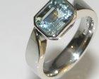 platinum engagement ring with 2.17ct aquamarine