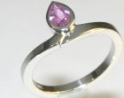 platinum and pink sapphire tulip inspired engagement ring