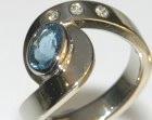 bespoke white gold swirl styleengagement ring
