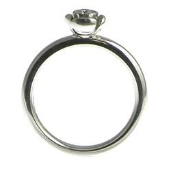 18ct white gold rose inspired diamond engagement ring