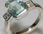 stunning art deco inspired 9x7.5mm 2.67cts aquamarine engagement ring