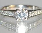 commissioned art deco diamond engagement ring